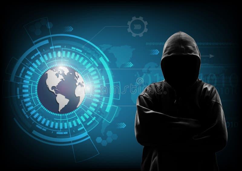 Hacker data computer stock image