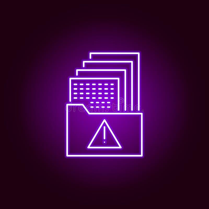 Hacker, Datenikone in der Neonart Kann f?r Netz, Logo, mobiler App, UI, UX verwendet werden lizenzfreie abbildung