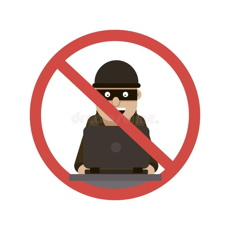 Hacker, der Logo zerhackt lizenzfreie abbildung