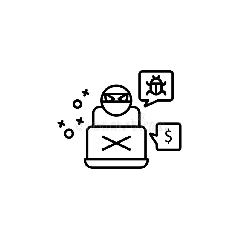 ransomware dollar key on a keyboard stock illustration