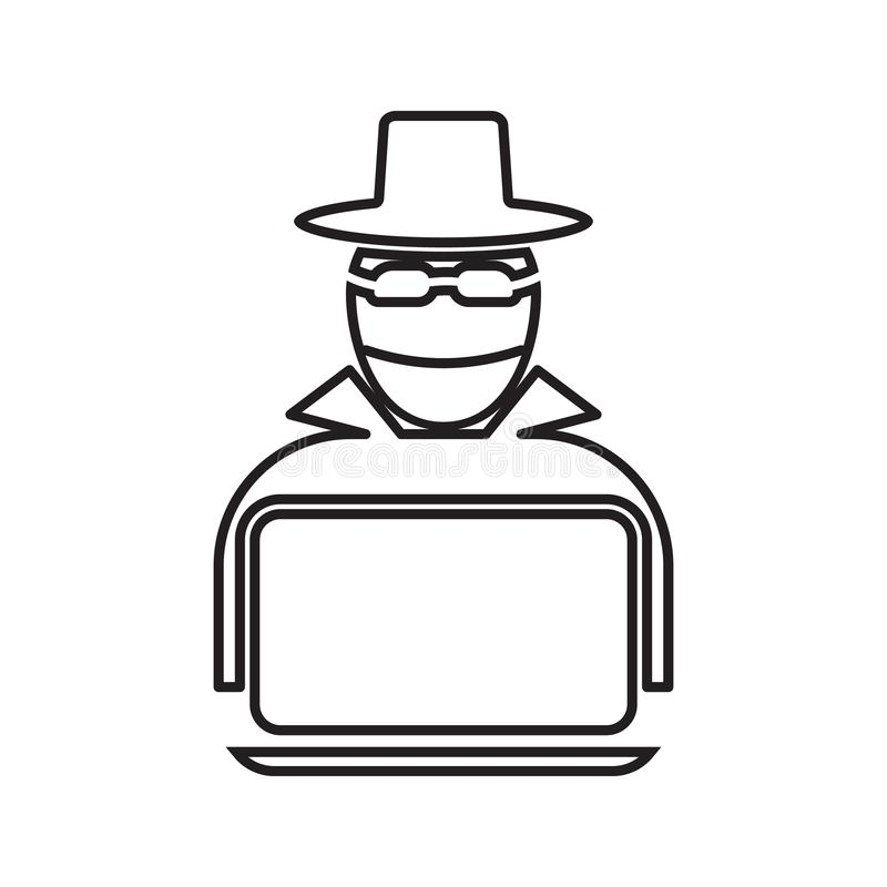 Hacker Icon Element Of Cyber Security For Mobile Concept And Web Apps Icon Thin Line Icon For Website Design And Development Stock Illustration Illustration Of Secret Laptop 134077245