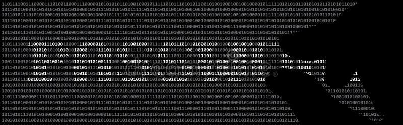 Hacker und Passwort lizenzfreie abbildung