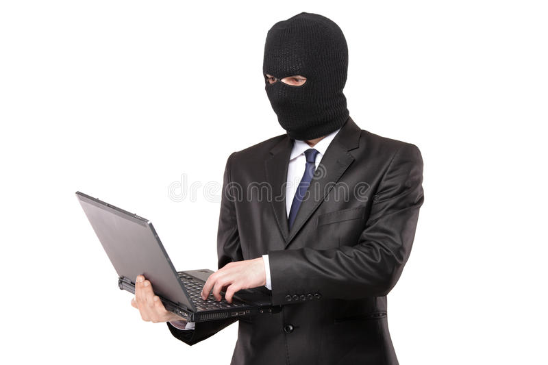 Download A Hacker Working On A Laptop Royalty Free Stock Photography - Image: 13916847