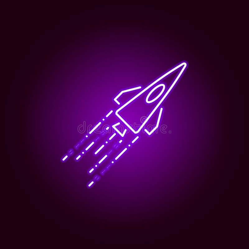Hacker, zerstören Ikone in der Neonart Kann f?r Netz, Logo, mobiler App, UI, UX verwendet werden vektor abbildung