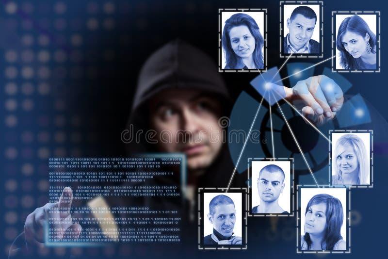 hackera działanie fotografia stock