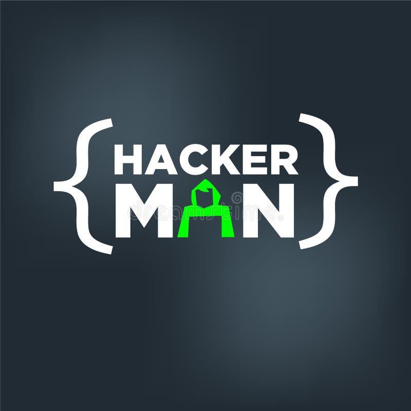 Hackera mężczyzna loga pojęcie - royalty ilustracja