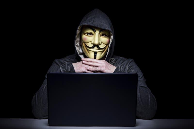 Hackera portreta wizerunek obraz stock
