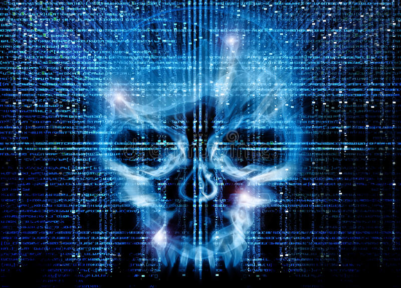 Hackerangriff stock abbildung