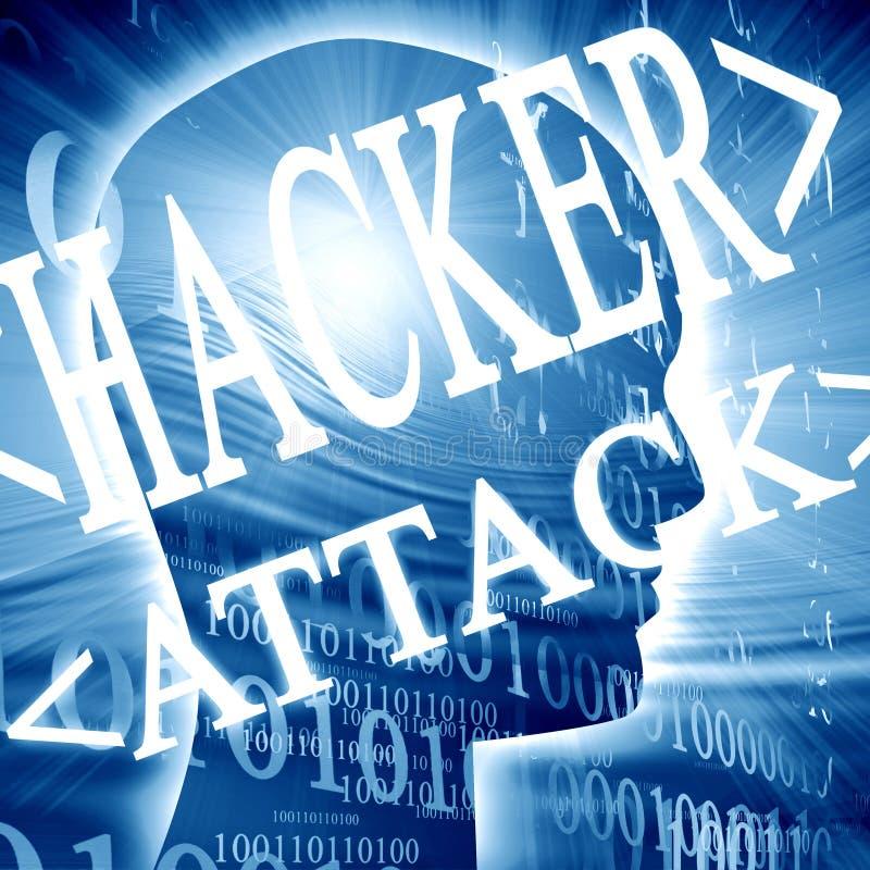 Hackerattack stock illustrationer