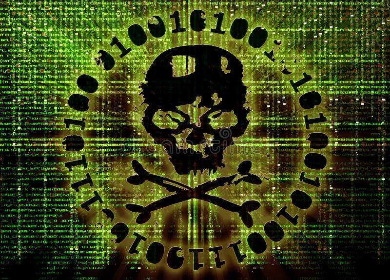 Hackerattackbegrepp royaltyfri illustrationer