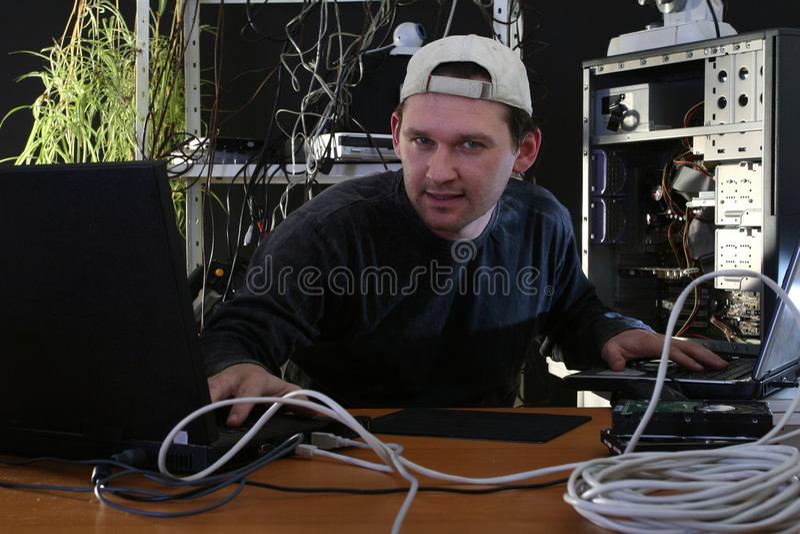 Hackerfunktion stockbild