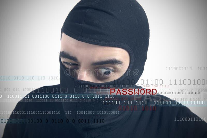 Hackers avslöjer ett lösenord arkivfoton