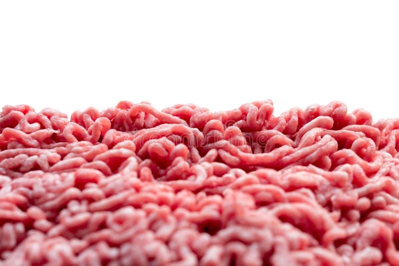 Hackfleisch, Schweinefleisch und Rindfleisch mit weißem Hintergrund lizenzfreies stockbild