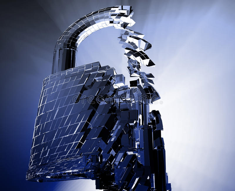 Hacking bypass security royalty free stock image