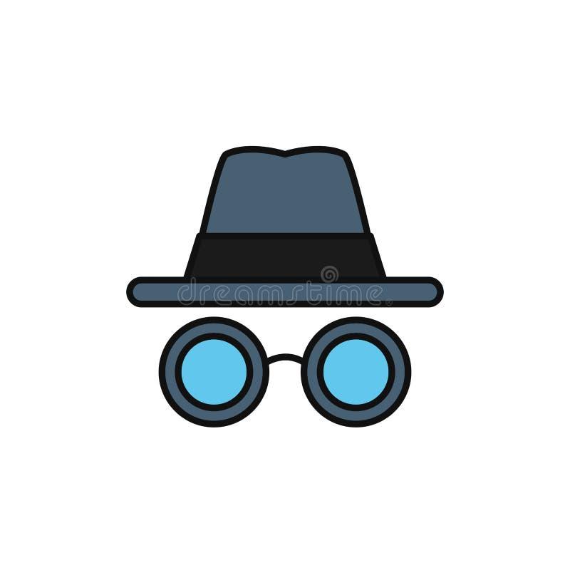 Hacking crime internet flat line style royalty free illustration