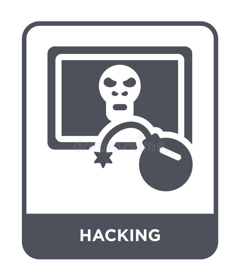 hacking icon in trendy design style. hacking icon isolated on white background. hacking vector icon simple and modern flat symbol royalty free illustration