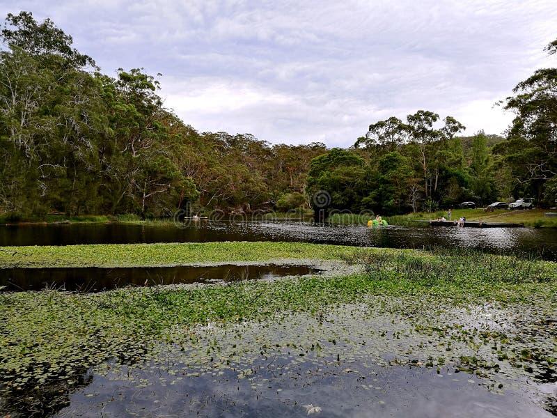 Hacking River @ Royal National Park, Sydney stock images
