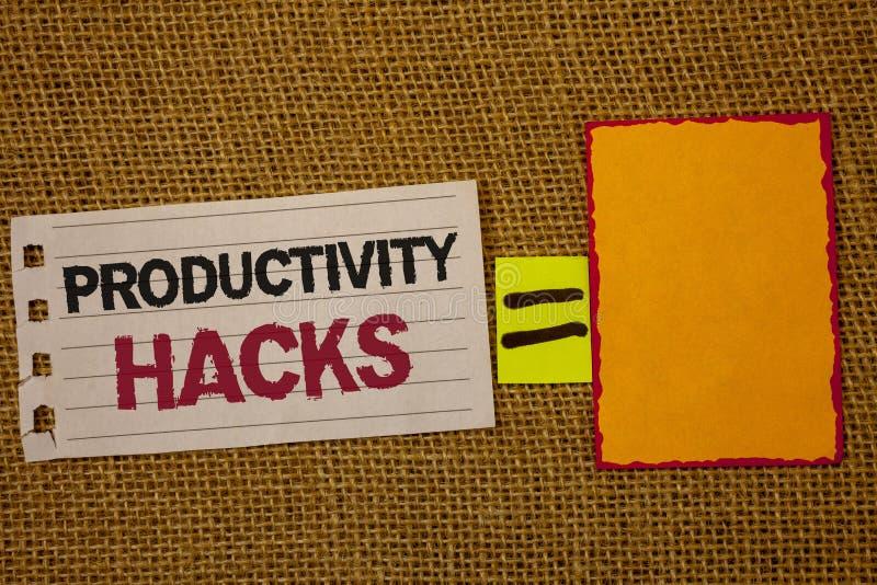Hackor för produktivitet för handskrifttexthandstil För dataintrånglösning för begrepp menande däck w för säck för jute för produ royaltyfria bilder