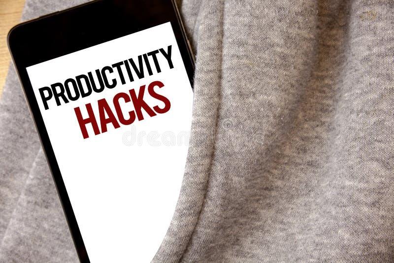 Hackor för produktivitet för handskrifttexthandstil För dataintrånglösning för begrepp menande färg för frost för Hoar för produk royaltyfri bild