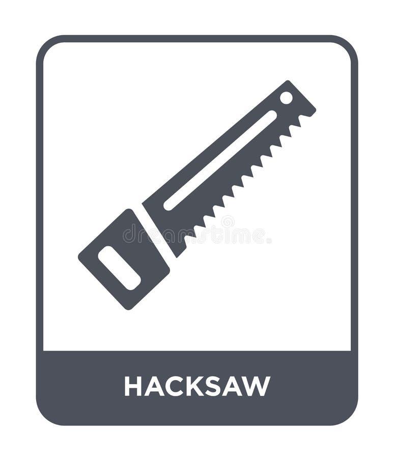 hacksaw ikona w modnym projekta stylu Hacksaw ikona odizolowywająca na białym tle hacksaw wektorowej ikony prosty i nowożytny pła ilustracji