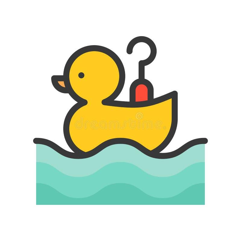 Haczy kaczki wektorową ikonę, wypełniający konturu stylu editable uderzenie ilustracja wektor