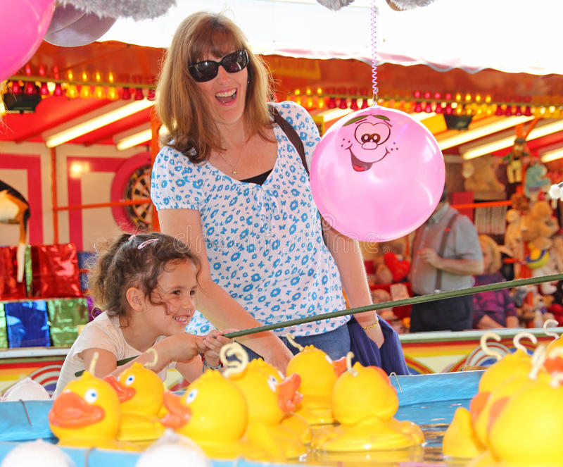 Haczy kaczki zabawy jarmark fotografia royalty free