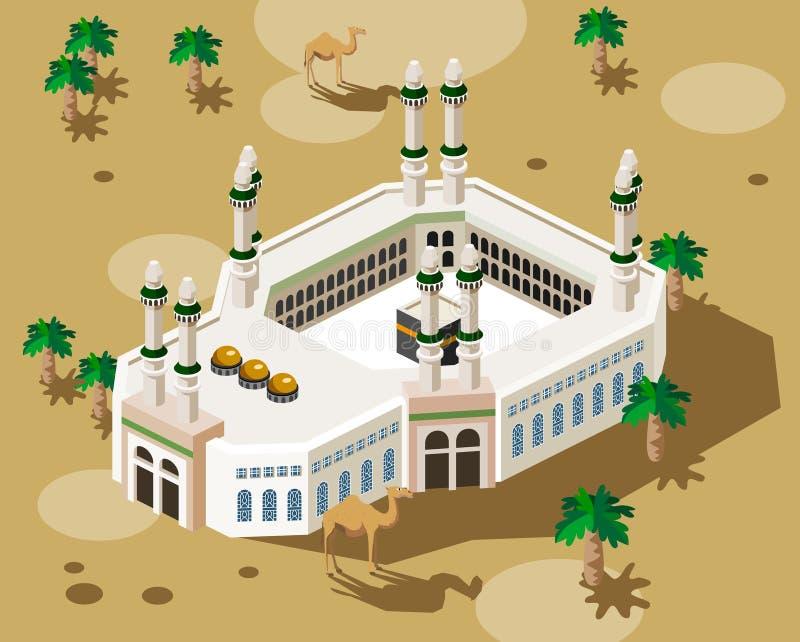 hadż mekka ilustracji