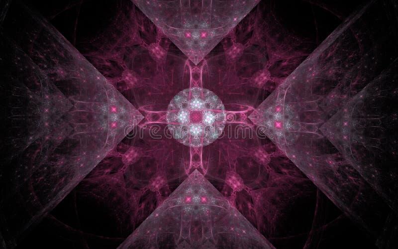 Had het digitaal geproduceerde beeld dat van kleurrijke fractal wordt gemaakt om als achtergrond voor projecten te dienen op fant stock illustratie