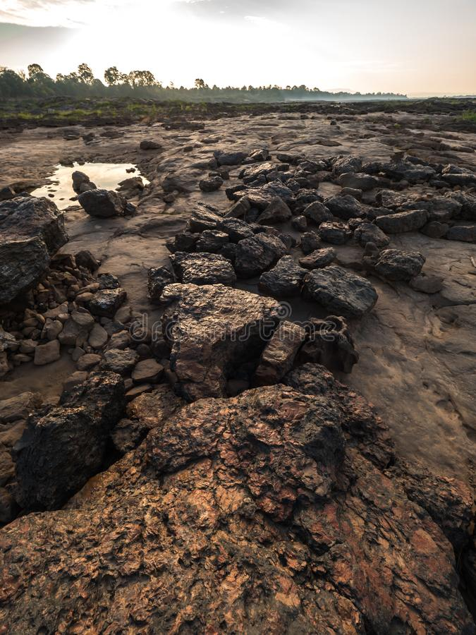Had hin see at Ubonratchathani, Thailand Grand Canyon. Rocky beach at Sampan-bok in Ubonratchathani, Thailand Grand Canyon stock photography