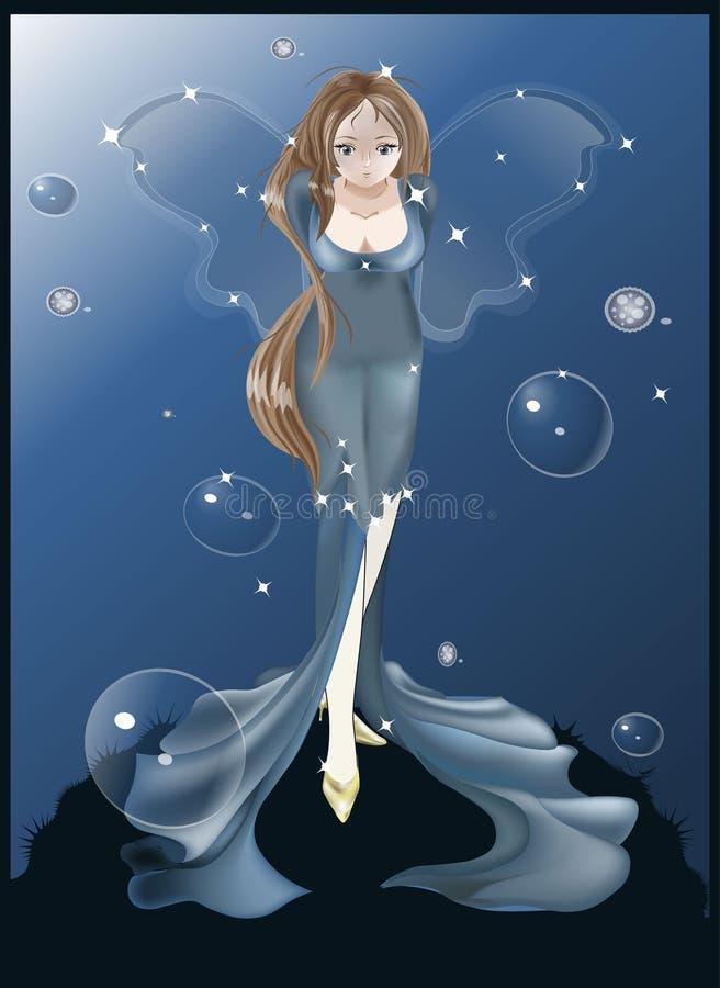 Hada azul libre illustration