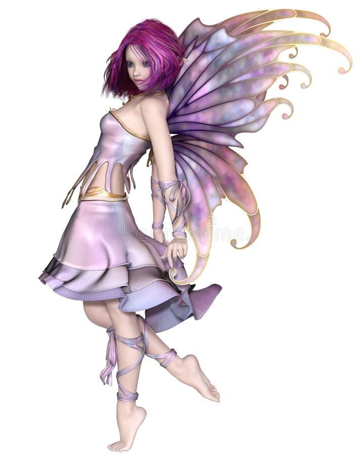 Hada bastante púrpura stock de ilustración