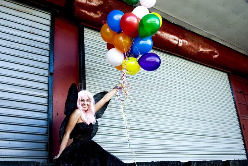Hada con los globos imágenes de archivo libres de regalías