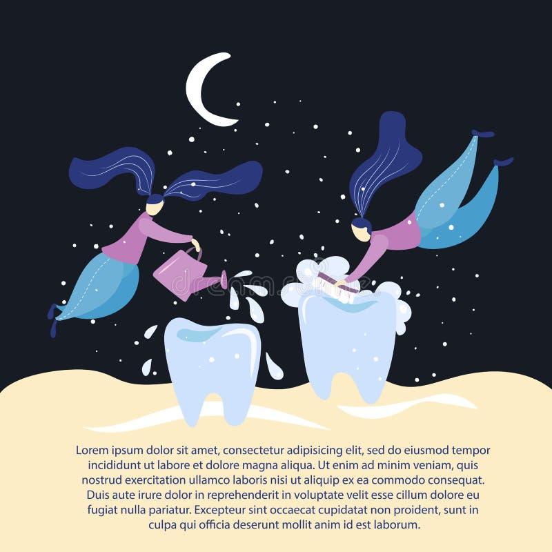 Hada de diente stock de ilustración