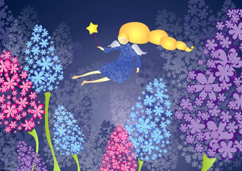 Hada de la flor stock de ilustración