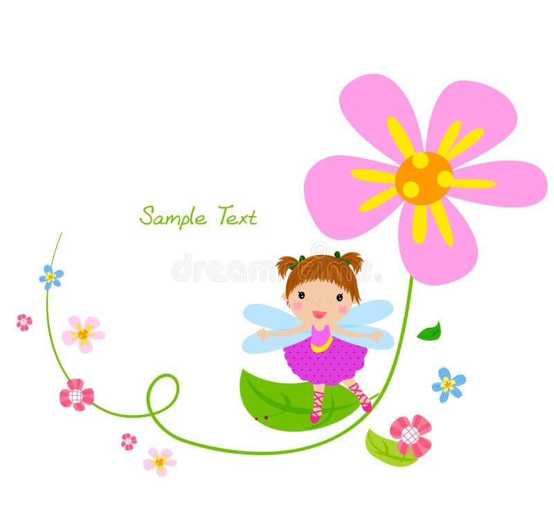 Hada de la flor y flor ilustración del vector