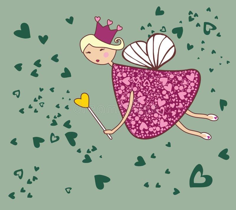 Hada del amor stock de ilustración