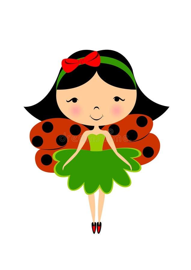 Hada del Ladybug stock de ilustración