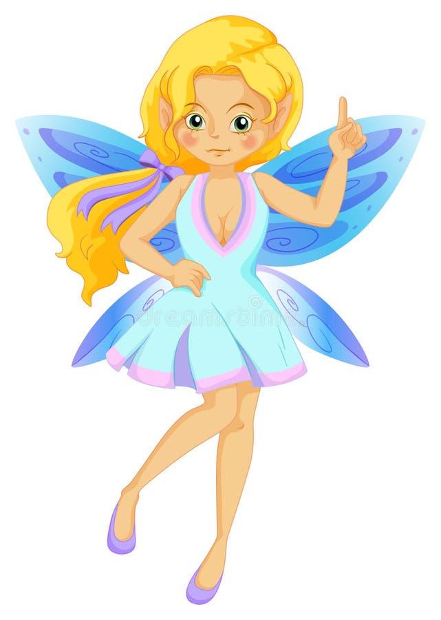 Hada linda con las alas azules libre illustration