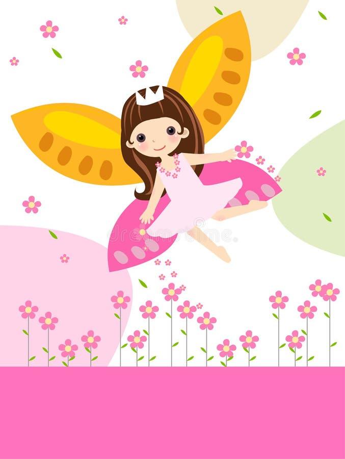 Hada linda de la flor ilustración del vector