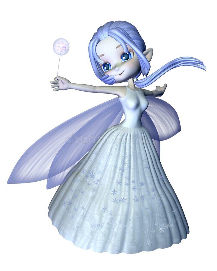 Hada linda del copo de nieve de Toon - 2 stock de ilustración