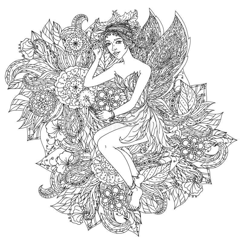 Hada o duende ilustración del vector