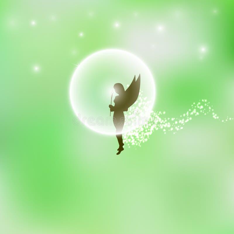 Hada o duende del bosque ilustración del vector