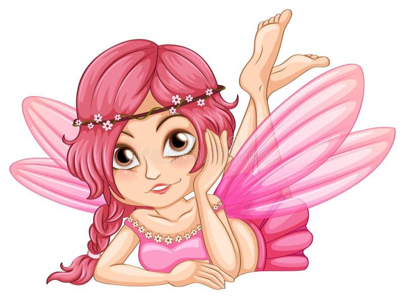 Hada rosada ilustración del vector