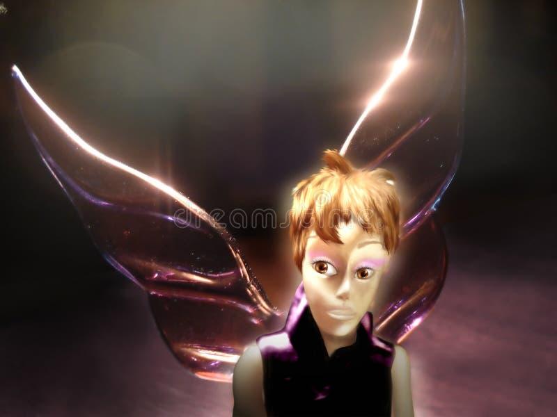 Hada violeta foto de archivo