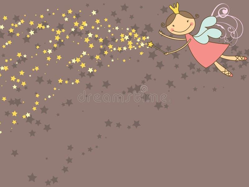 Hada y estrellas dulces ilustración del vector