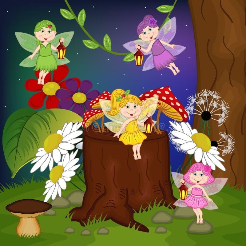 Hadas en bosque libre illustration