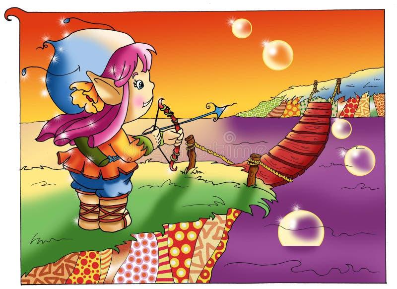 Hadas y duendes, el valor libre illustration