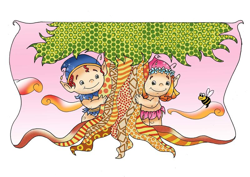 Hadas y duendes, la amistad libre illustration