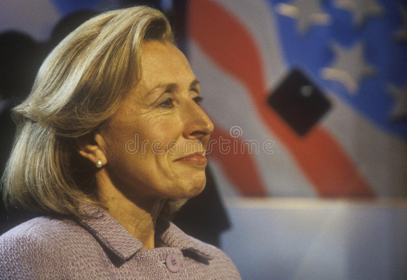 Hadassah Lieberman στη δημοκρατική Συνθήκη του 2000 στο Staples Center, Λος Άντζελες, ασβέστιο στοκ εικόνα με δικαίωμα ελεύθερης χρήσης