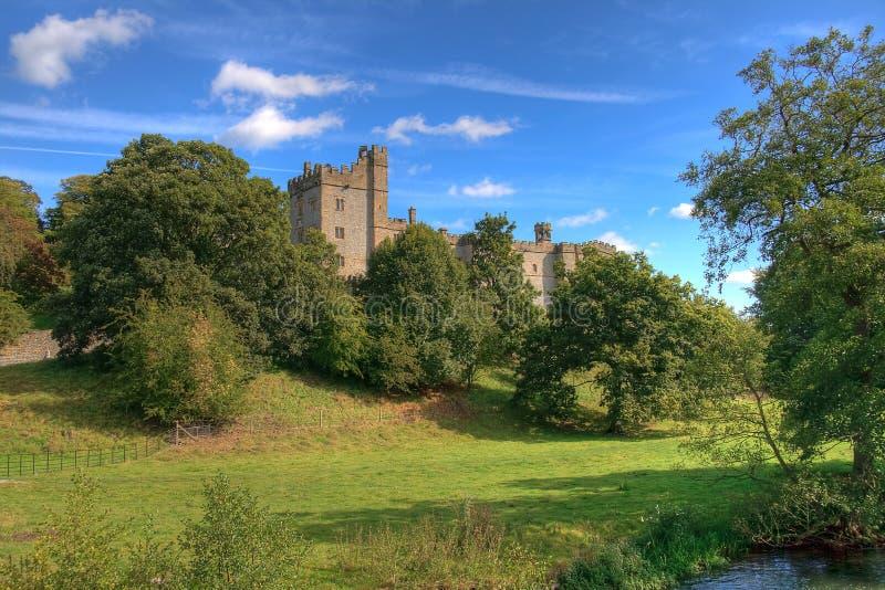 Haddon Hall and Trees royalty free stock image
